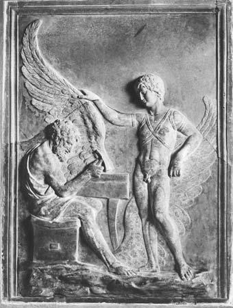 """🗿 """"Dedalos e Icaro"""" (Siglo II d. C. ) 👩🎨 Artista desconocida. DÉDALOS, ÍCARO Y EL ARTE"""