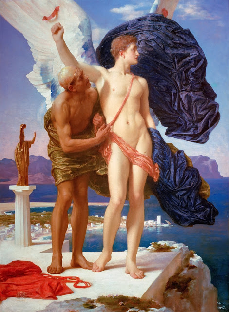 """🖼️ """"Dédalo e Icaro"""" (1869) 👨🏻🎨 Frédéric #Leighton. DÉDALOS, ÍCARO Y EL ARTE"""